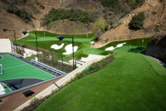 Mark Wahlberg's backyard luxury golf